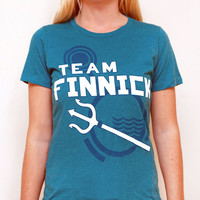 Women's Hunger Games Team Finnick Graphic TShirt by LHopDesigns