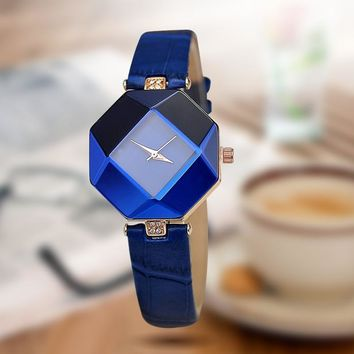 Luxury Gem Cut Crystal Watch