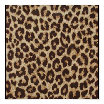 Leopard Print Perfect Poster