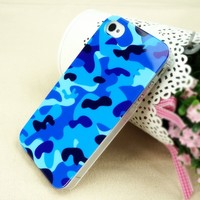Ice-Bingo Printed Case for iPhone 5: Camouflage Color (navy blue)