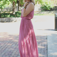 Hello Beautiful Maxi Dress - Rose