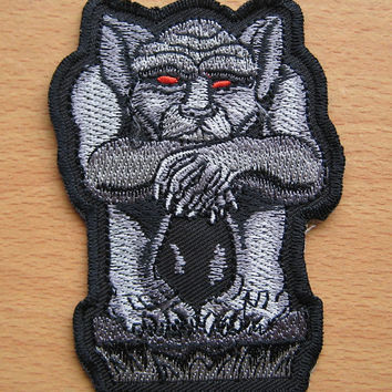 Iron-on Embroidered Patch Beast 3.9 inch
