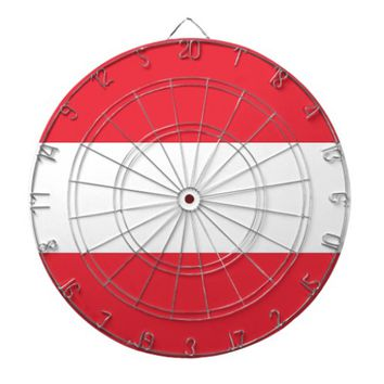Dartboard with Flag of Austria