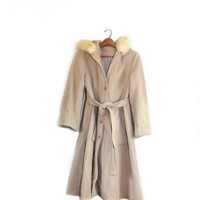 Wool Coat Wool Jacket Womens Wool Coat Beige Coat Boho Coat Beige Jacket Long Jacket Women's Wool Coat