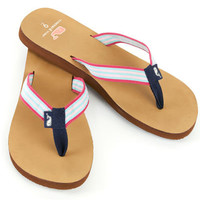 Womens Flip Flops: Grosgrain Leather Flip Flops for Women – Vineyard Vines