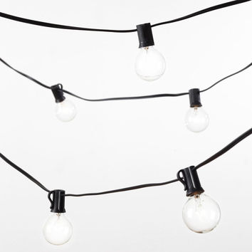 Global String Lights (48ft.-24 sockets w- frosted bulbs)