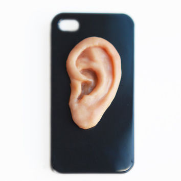 I HEAR YOU IPhone 4 hard case Unusual Iphone case by MyBookmark