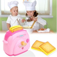 Mini Toaster Classic Toys Pretend Play Toys Home Application Furniture Toy Kitchen For Girls Boys Gift Pink MU883239