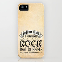 Psalm 61 - The Rock iPhone & iPod Case by Pocket Fuel