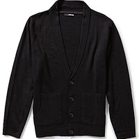 Murano Shawl Lightweight Cardigan Sweater - Black