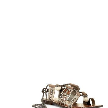 Sam Edelman | Gretchen Embellished Lace-Up Sandal