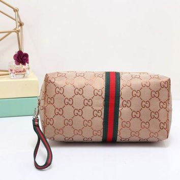 DCCKJ3V Gucci Women Leather Zipper Shopping Wallet Purse-1