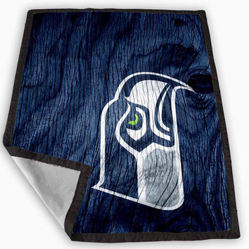 Seattle Seahawks Black Wood Blanket for Kids Blanket, Fleece Blanket Cute and Awesome Blanket for your bedding, Blanket fleece *