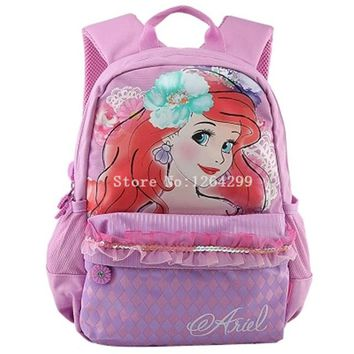 School Backpack New Fashion Princess The Little Mermaid Snow White Cinderella Girls Students School Bags Kids Backpack Bag For Children AT_48_3