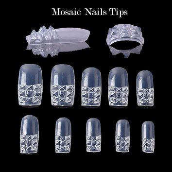 100Pcs White/ Clear /Natural/ Stiletto Long False Fake Nails Tips Manicure Artificial Nails Salon Half Cover Tips