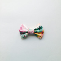 Pink Floral Hairbow, big hairbow, girls hairbow, flower hairbow for teens