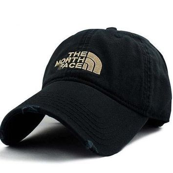 CREYON Day First Vintage Embroidered The North Face Cotton Baseball Hat Black