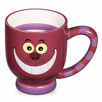 disney parks striped cheshire cat ceramic coffee cup mug new