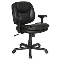 Dorra Low Back Task Chair Black by Office Depot