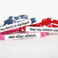 Custom Military Deployment Bracelet - Army, Air Force, Navy, Soldier Wife, Girlfriend, Fiance