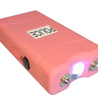 POLICE 15000000 V Stun Gun With LED Flashlight (Pink):Amazon:Sports & Outdoors