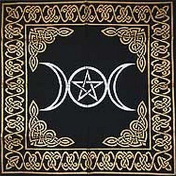 Magic Goddess Moon Pentagram Pagan Altar Tarot Cloth Tapestry