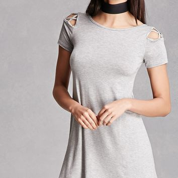 Crisscross Cutout Swing Dress