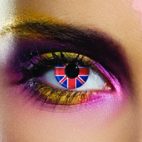 EDIT United Kingdom Flag Coloured Contacts