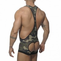 AD206 ELASTIC MESH BOTTOMLESS SINGLET - ·ES· Collection