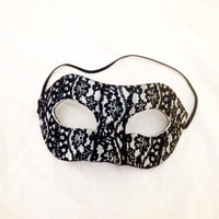 Black lace halloween masquerade mask