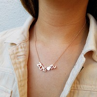 Name Zodiac Charm Necklace
