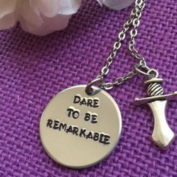 Graduation Necklace - Graduation Jewelry - Dare To Be Remarkable - Inspiration Jewelry - Inspiration Necklace - Motivation Necklace