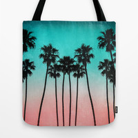 Palm Trees 3 Tote Bag by Mareike Böhmer Photography