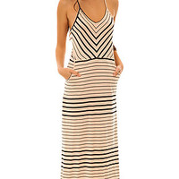 Volcom The Between Lines Striped Maxi Dress in Bellini Peach : Karmaloop.com - Global Concrete Culture