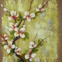 Peach Blossom Oil Painting