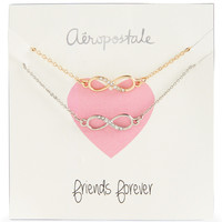 Aeropostale  Womens BFF Infinity Short-Strand Necklace 2-Pack