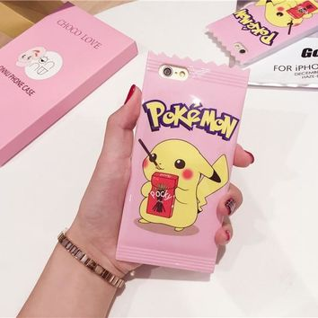 IMD Candy s go Rubber Phone Case for iPhone 6 Cute TPU Back Cover Shell For iPhone 6 6s Plus CasesKawaii Pokemon go  AT_89_9