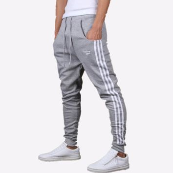 Mens Joggers Pants Casual Fashion Slim Jogger Cotton Hip hop Sweatpants Men Beam Feet Harem Pants Sarouel Homme