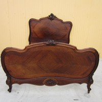 French Antique Luois XV Bed Antique Bedroom Furniture