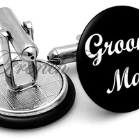 Design #6 Groomsman Wedding Cufflinks