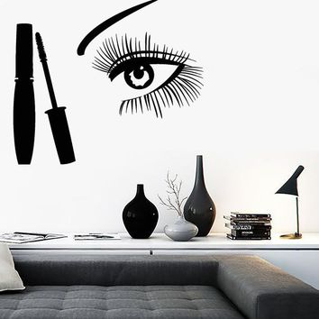 Vinyl Decal Cosmetics Makeup Girl Room Woman Beauty Salon Decor Unique Gift (ig2710)