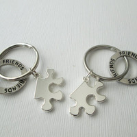 2 Puzzle Piece, Best Friends Keychains