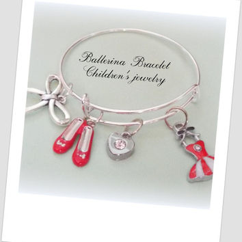 Ballet Dancer Gift, Little Girl's Ballet Bracelet, Children's Jewelry, Granddaughter Gift, Daughter Jewelry