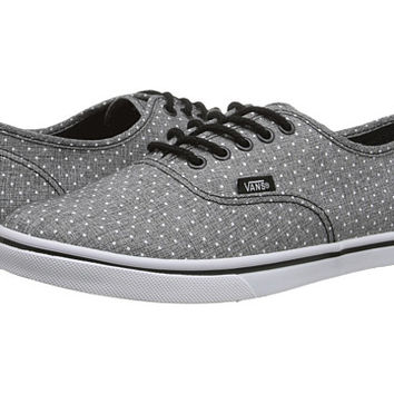 vans authentic lo pro chambray blue/true white