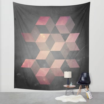 Pink & Gray Wall Tapestry by DuckyB (Brandi)
