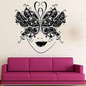 Wall Sticker Vinyl Decal Masquerade Ball Mask Arts Theatre Actor Unique Gift (ig1885)
