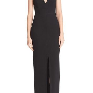 Alice + Olivia Slit Front V-Neck Maxi Dress | Nordstrom