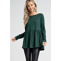 Simply Subtle Top - Hunter Green