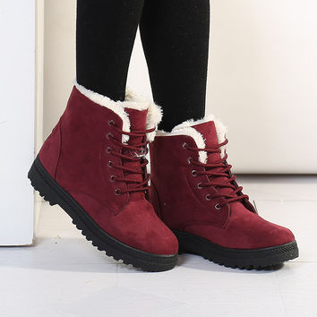 On Sale Hot Deal Korean Dr. Martens Winter Cotton Ladies Plus Size Boots [9433605706]