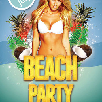 Summer Beach Party Flyer Template | Beach Party Flyer | Flyer Template | Instant Download